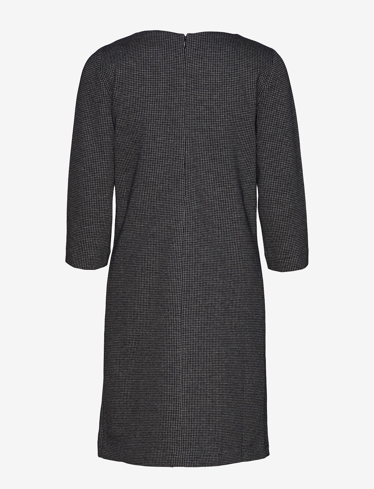 Gant - D1. DOGTOOTH JERSEY CL SHIFT DRESS - midimekot - dark grey melange