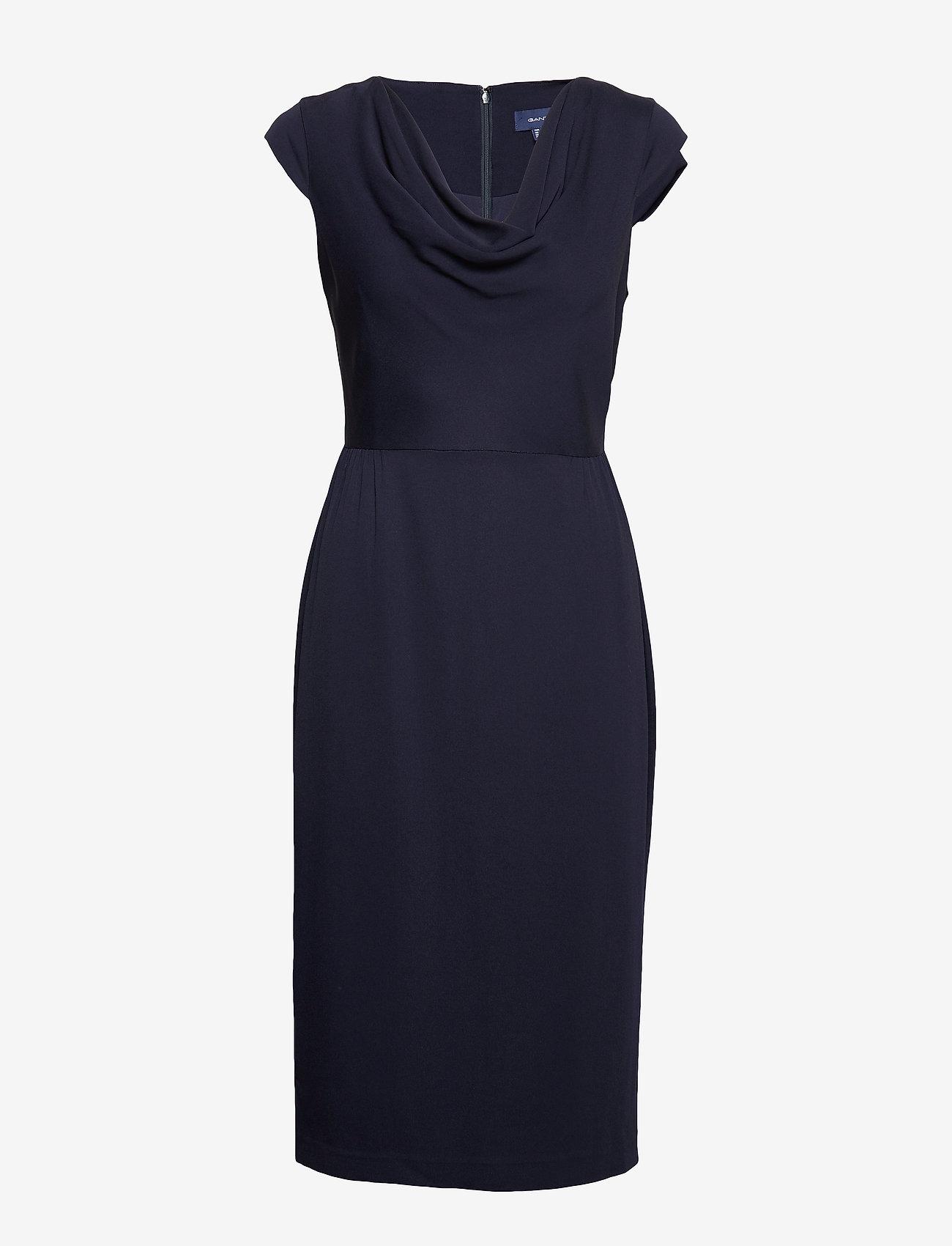 Gant - D2. HOLIDAY DRESS - midimekot - evening blue