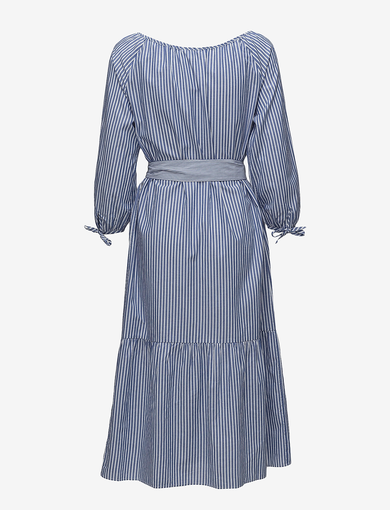 Gant - O1. PREPPY STRIPED SHIRT DRESS - paitamekot - college blue