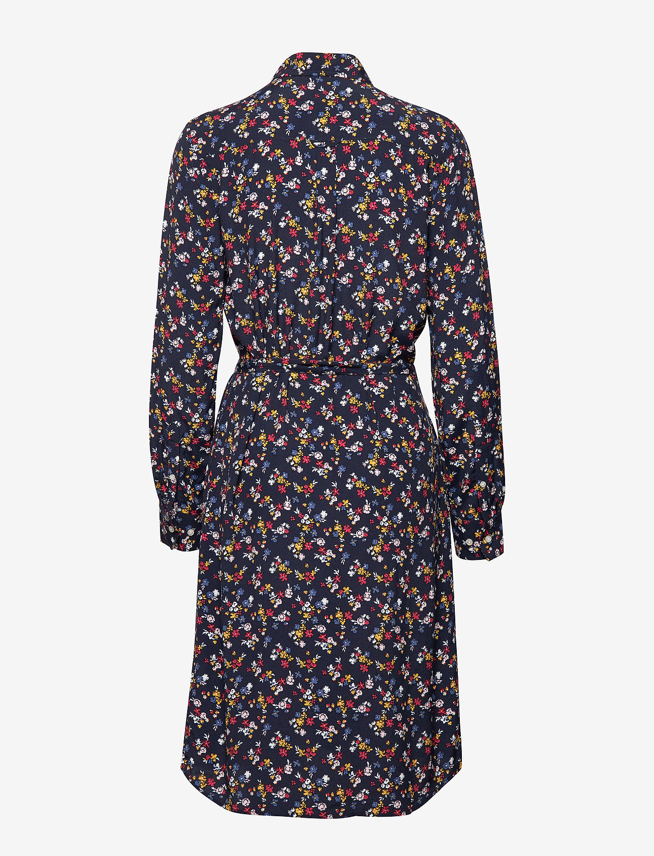 Gant - D1. SCRIBBLED FLORAL SHIRT DRESS - paitamekot - evening blue