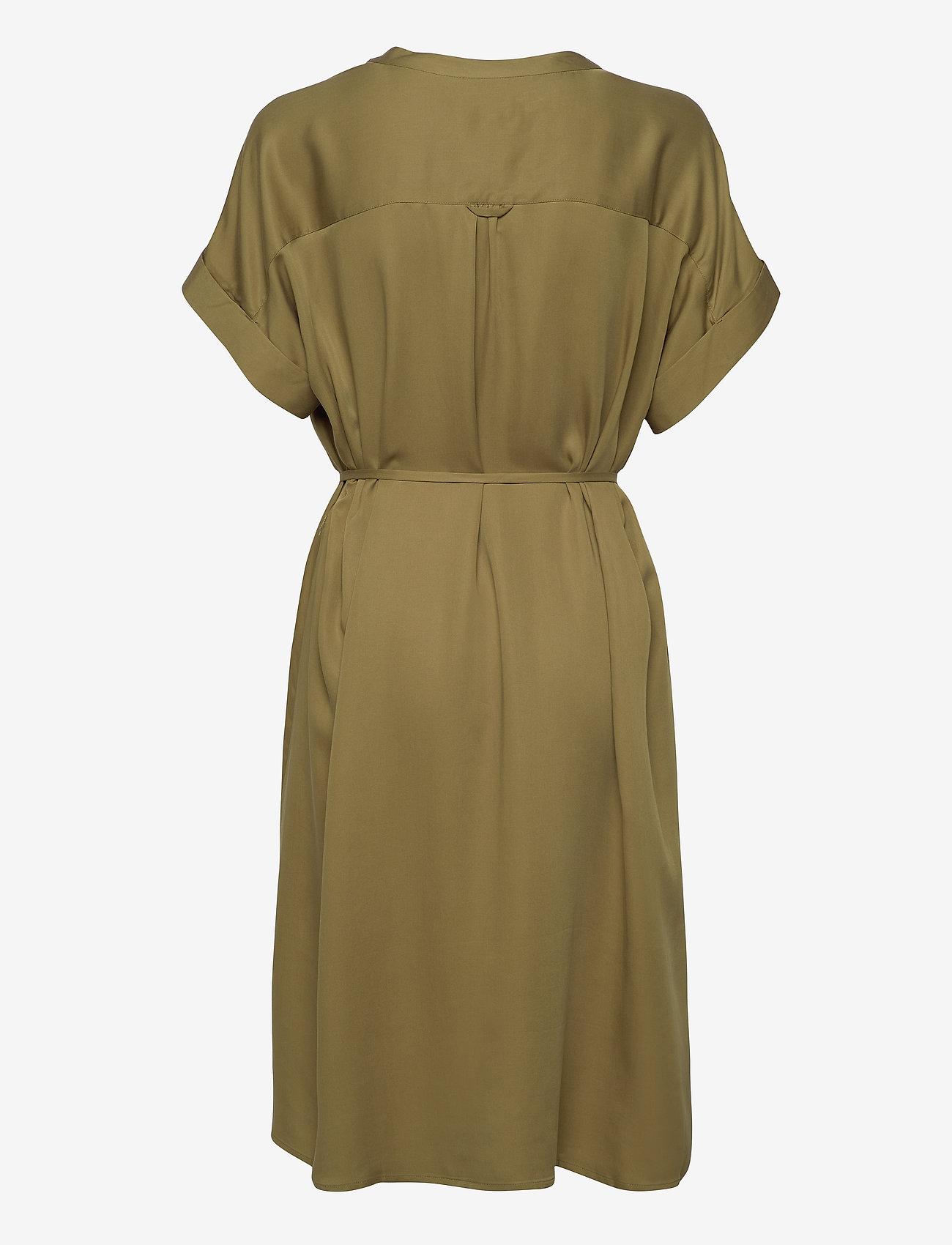 GANT - D1. FLUID DRESS - midi dresses - olive green - 1