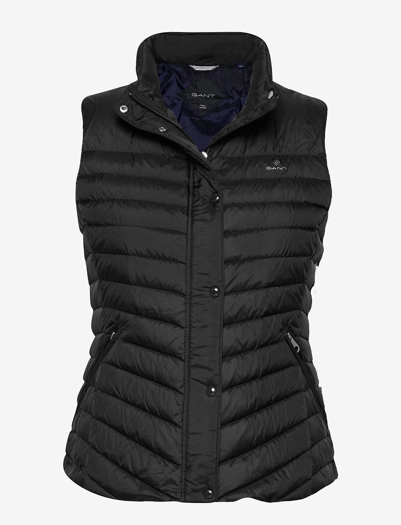 GANT - LIGHT DOWN GILET - puffer vests - black - 0