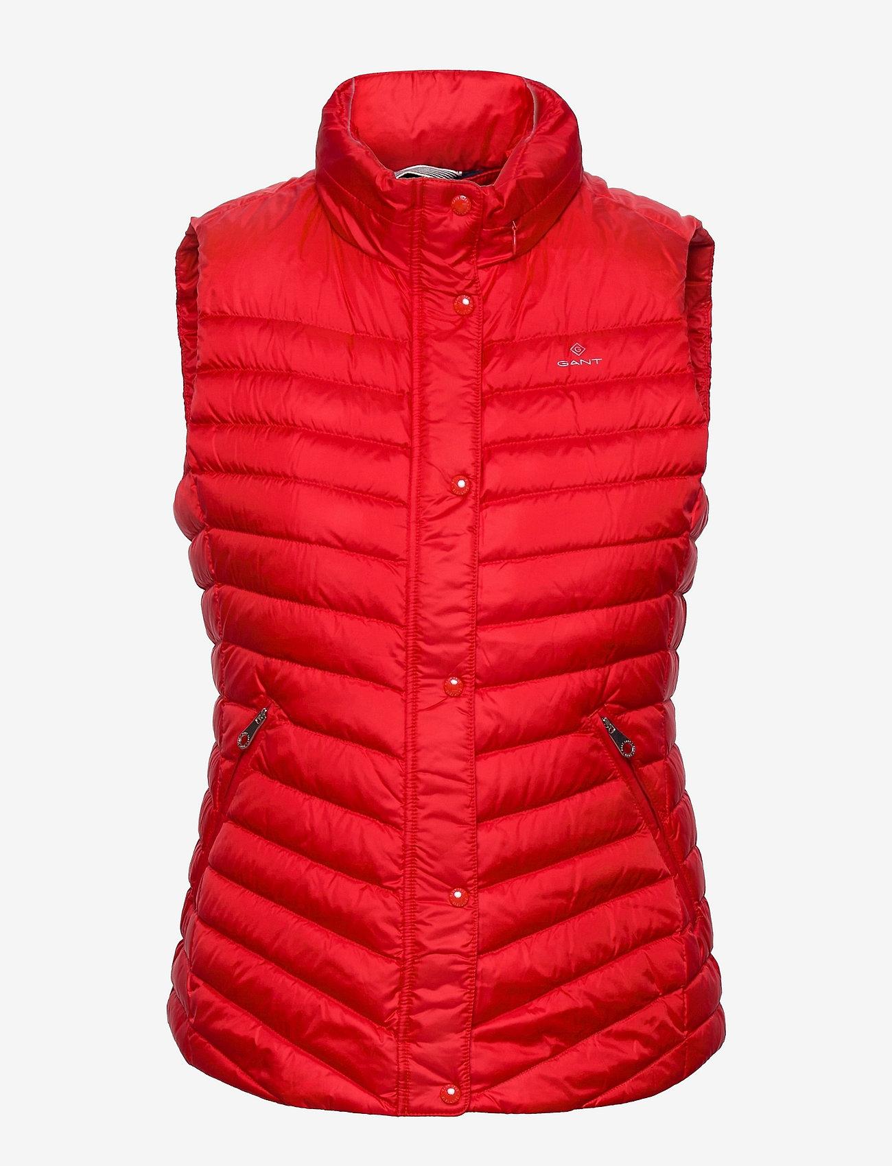 GANT - LIGHT DOWN GILET - puffer vests - bright red - 0