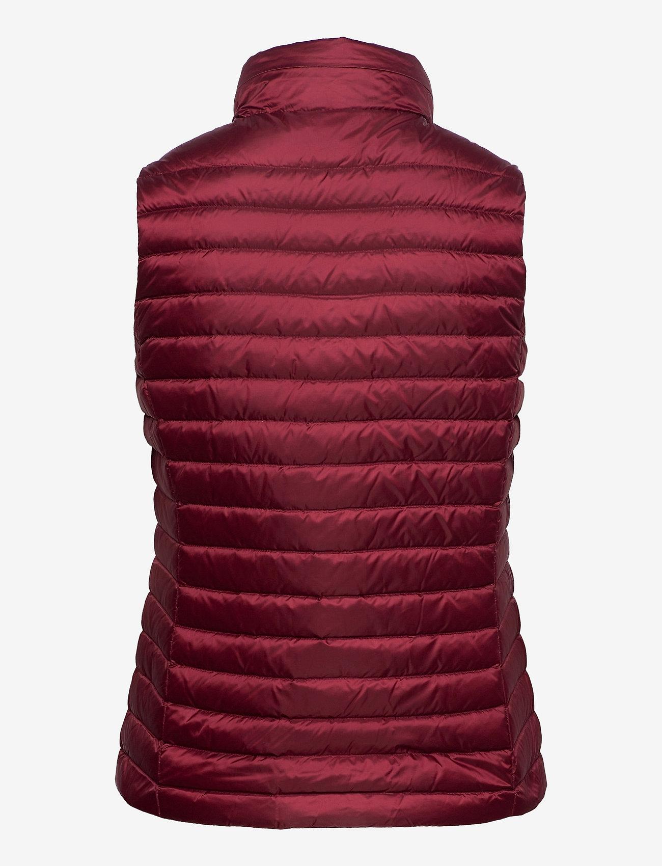 GANT - LIGHT DOWN GILET - puffer vests - cabernet red - 1