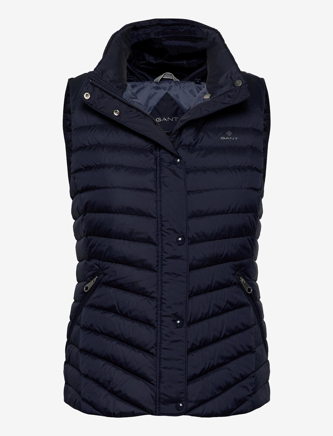 GANT - LIGHT DOWN GILET - puffer vests - evening blue - 0