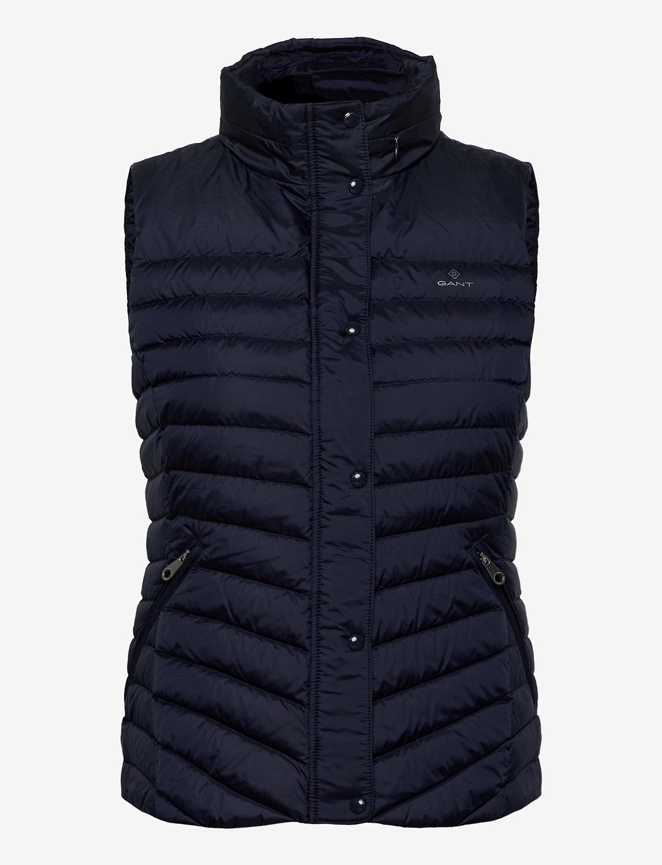 GANT - LIGHT DOWN GILET - puffer vests - evening blue - 1