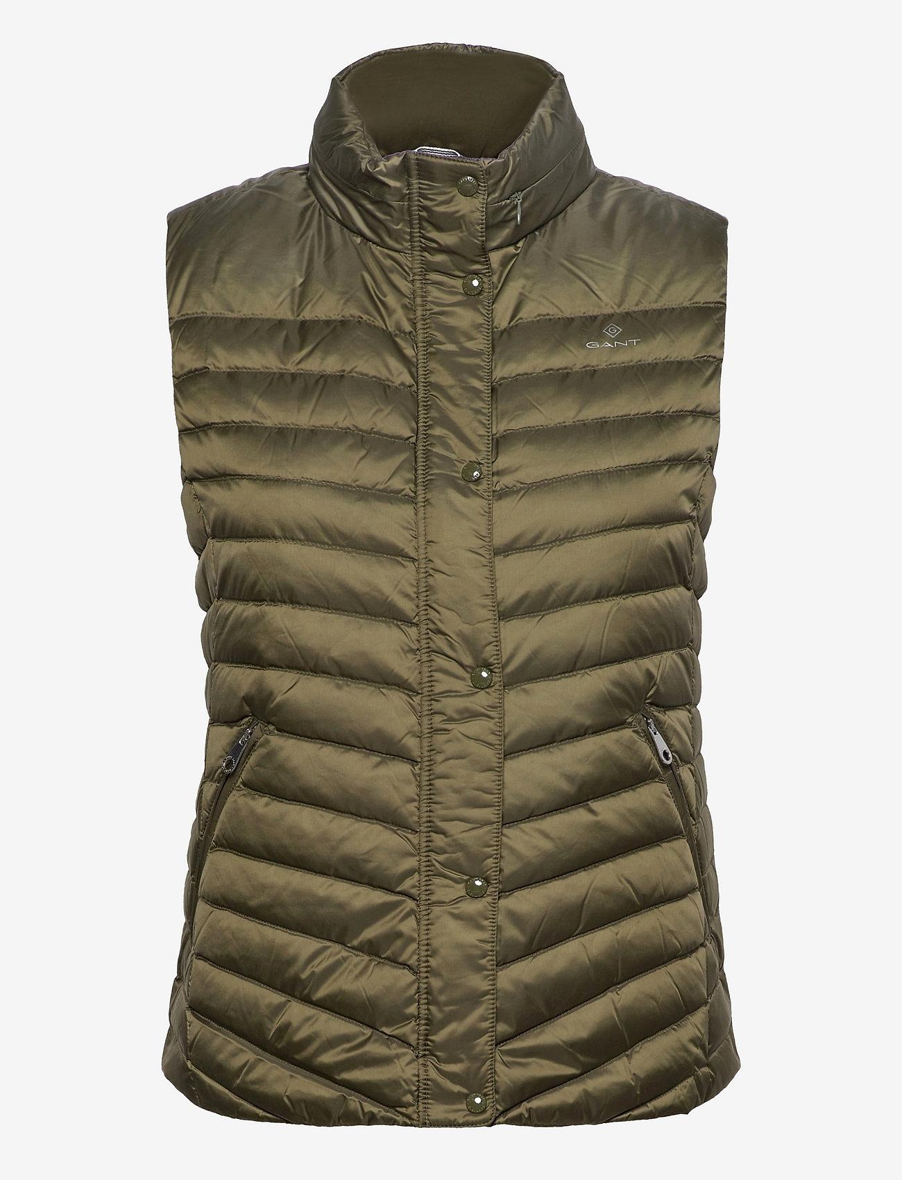 GANT - LIGHT DOWN GILET - puffer vests - racing green - 0