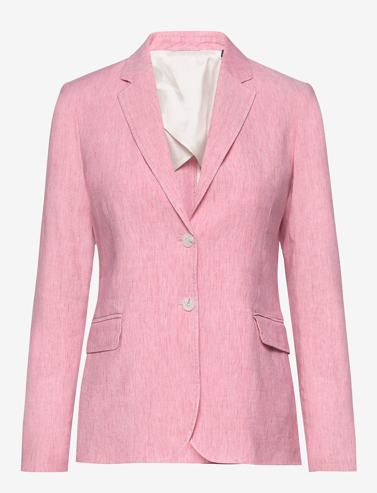 Gant - D2. STRETCH LINEN REGULAR BLAZER - vestes tailleur - rapture rose