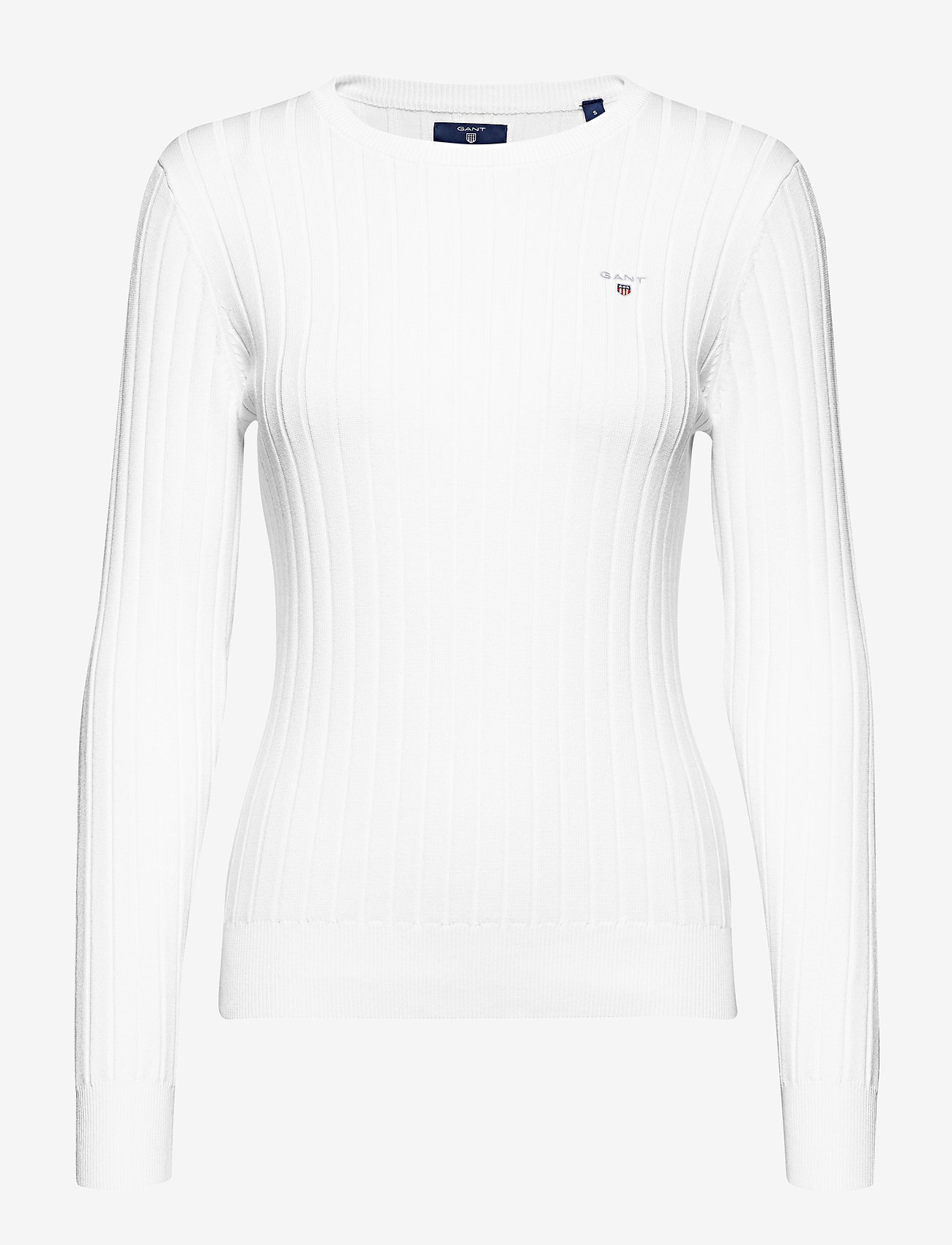 GANT - D1. STRETCH COTTON RIB CREW - jumpers - white - 0