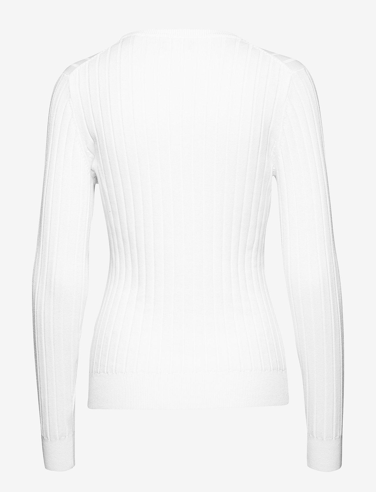 GANT - D1. STRETCH COTTON RIB CREW - jumpers - white - 1