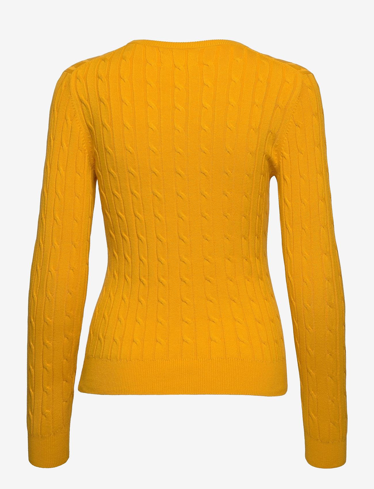 GANT - STRETCH COTTON CABLE C-NECK - džemperi - medallion yellow - 1