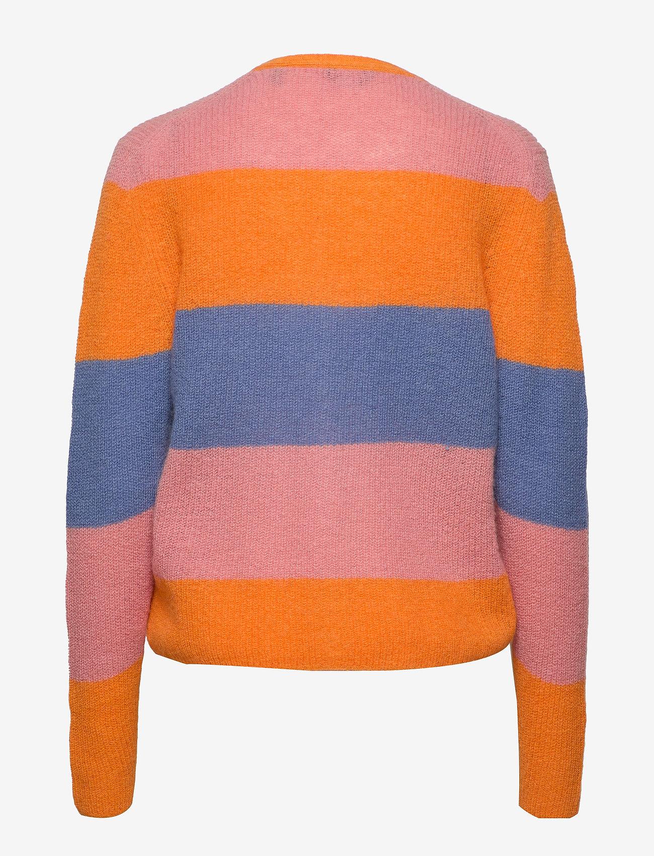D1. Striped Woolblend Cardigan (Multicolor) - Gant xDyqWQ