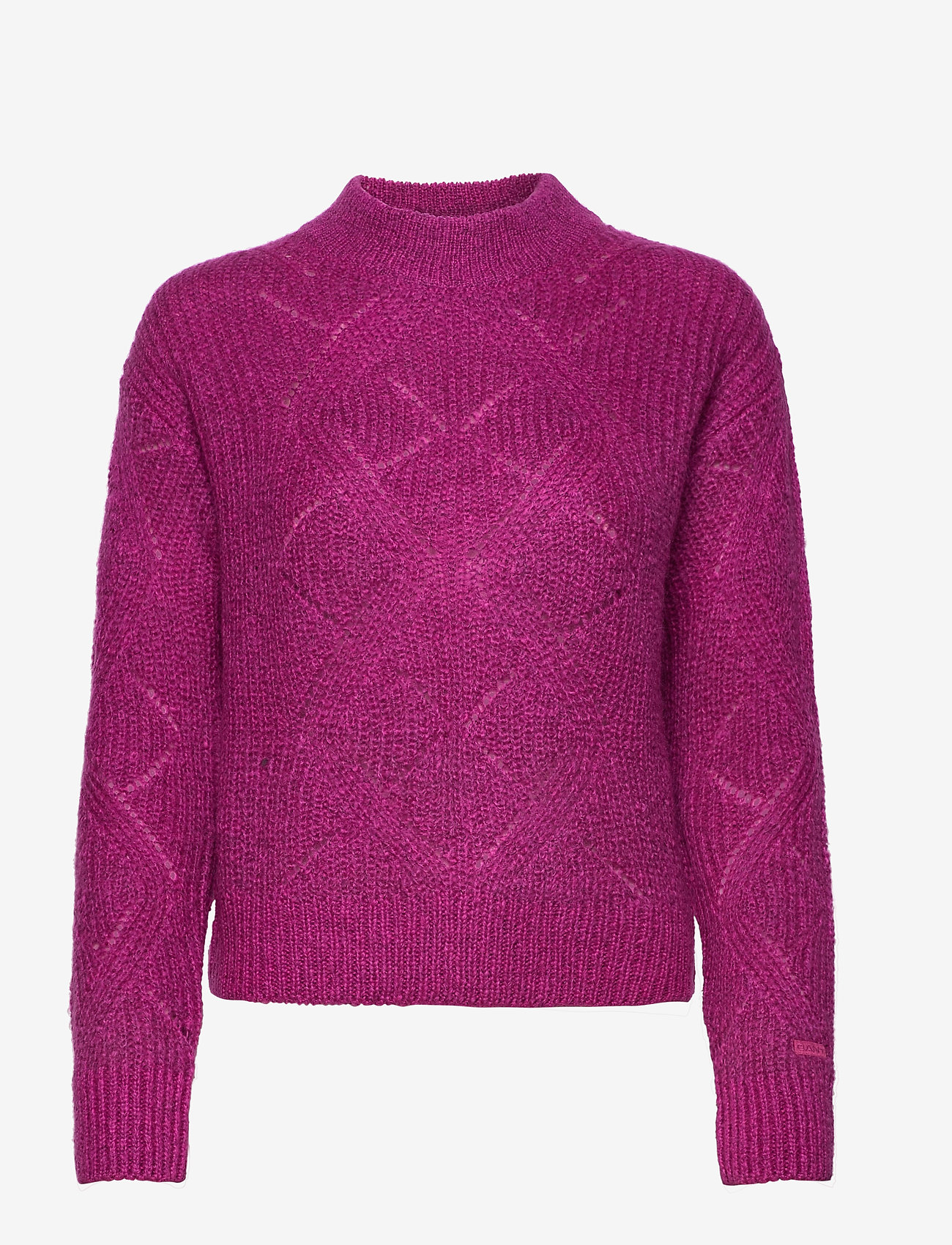 GANT - D2. WOOL MOHAIR POINTELLE CREW - jumpers - orchid purple - 0