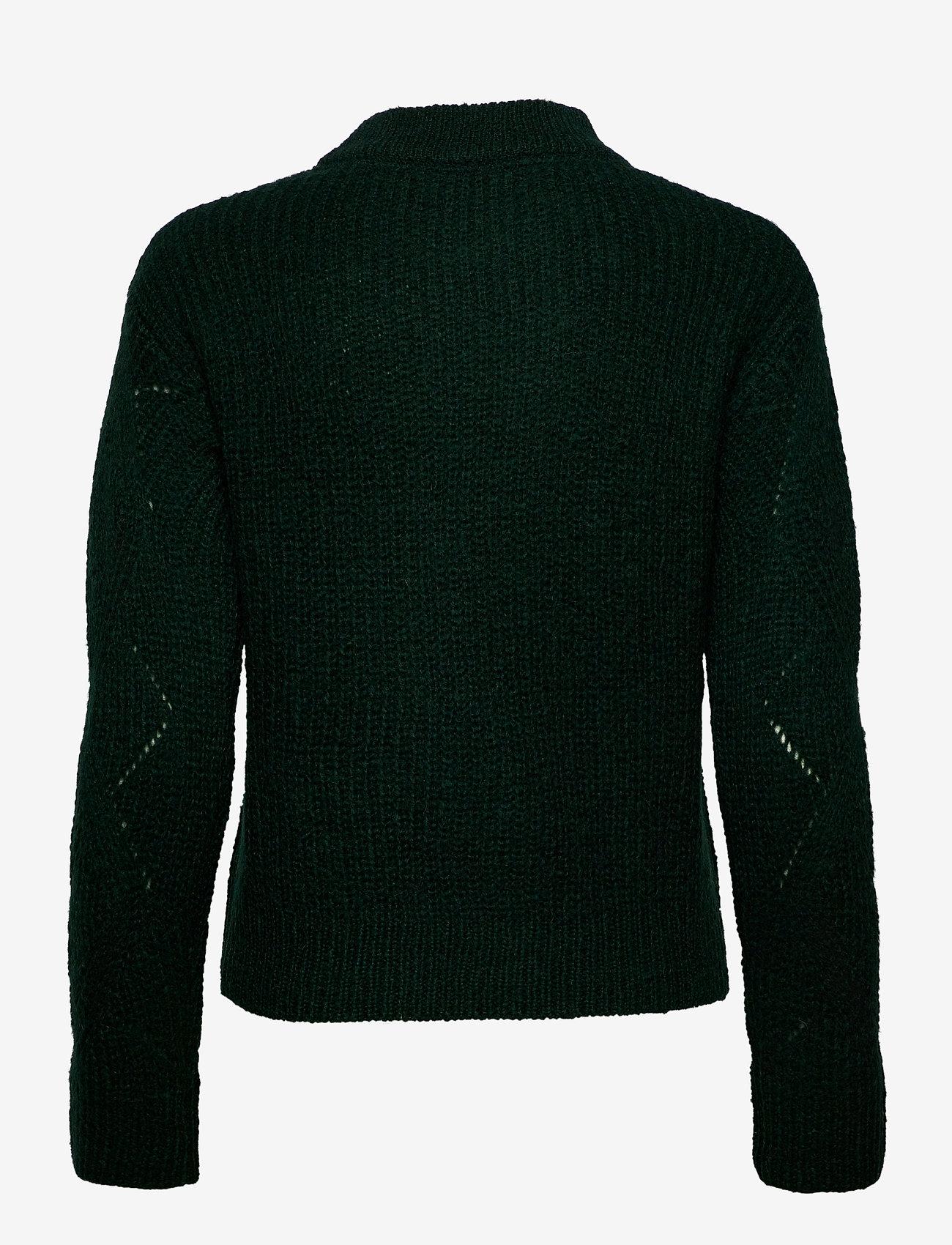GANT - D2. WOOL MOHAIR POINTELLE CREW - jumpers - tartan green - 1