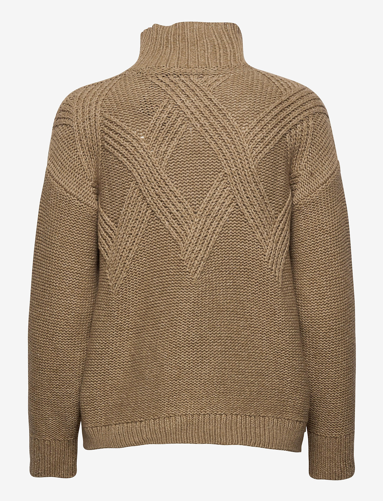 GANT - D2. GRAPHIC CABLE TURTLE - turtlenecks - warm khaki - 1