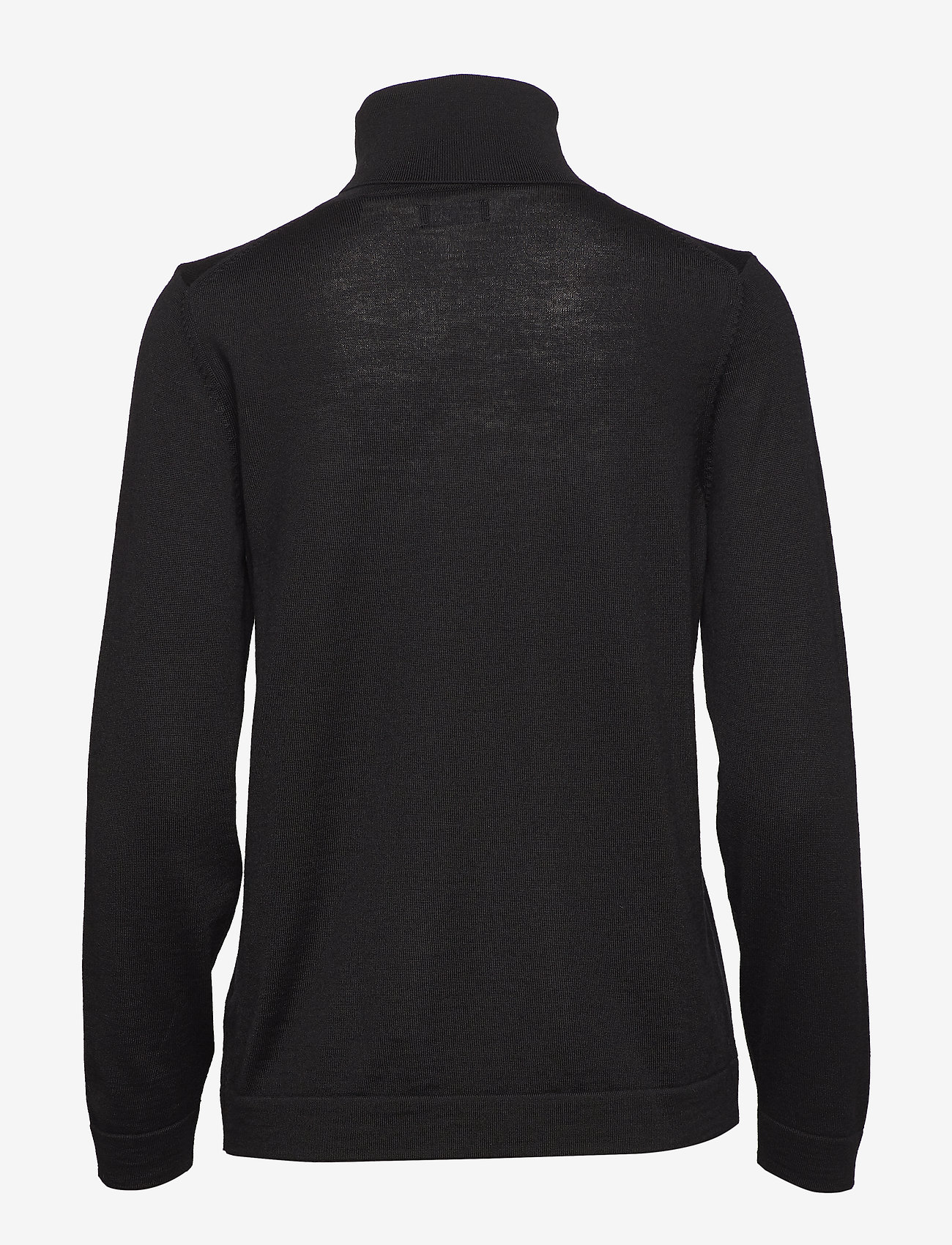 Gant - FINE MERINO TURTLE NECK - turtlenecks - black