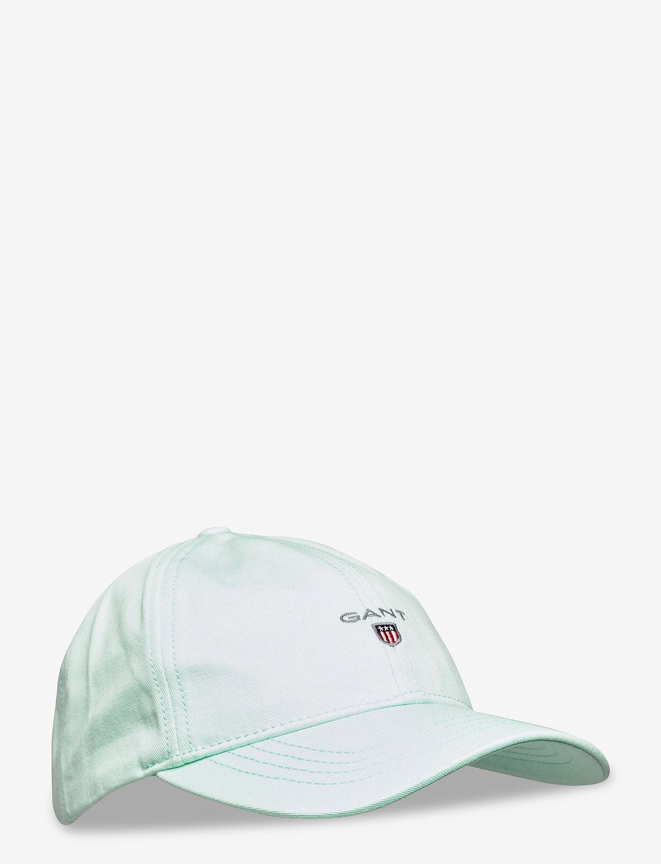 GANT - COTTON TWILL CAP - czapki - bay green - 0