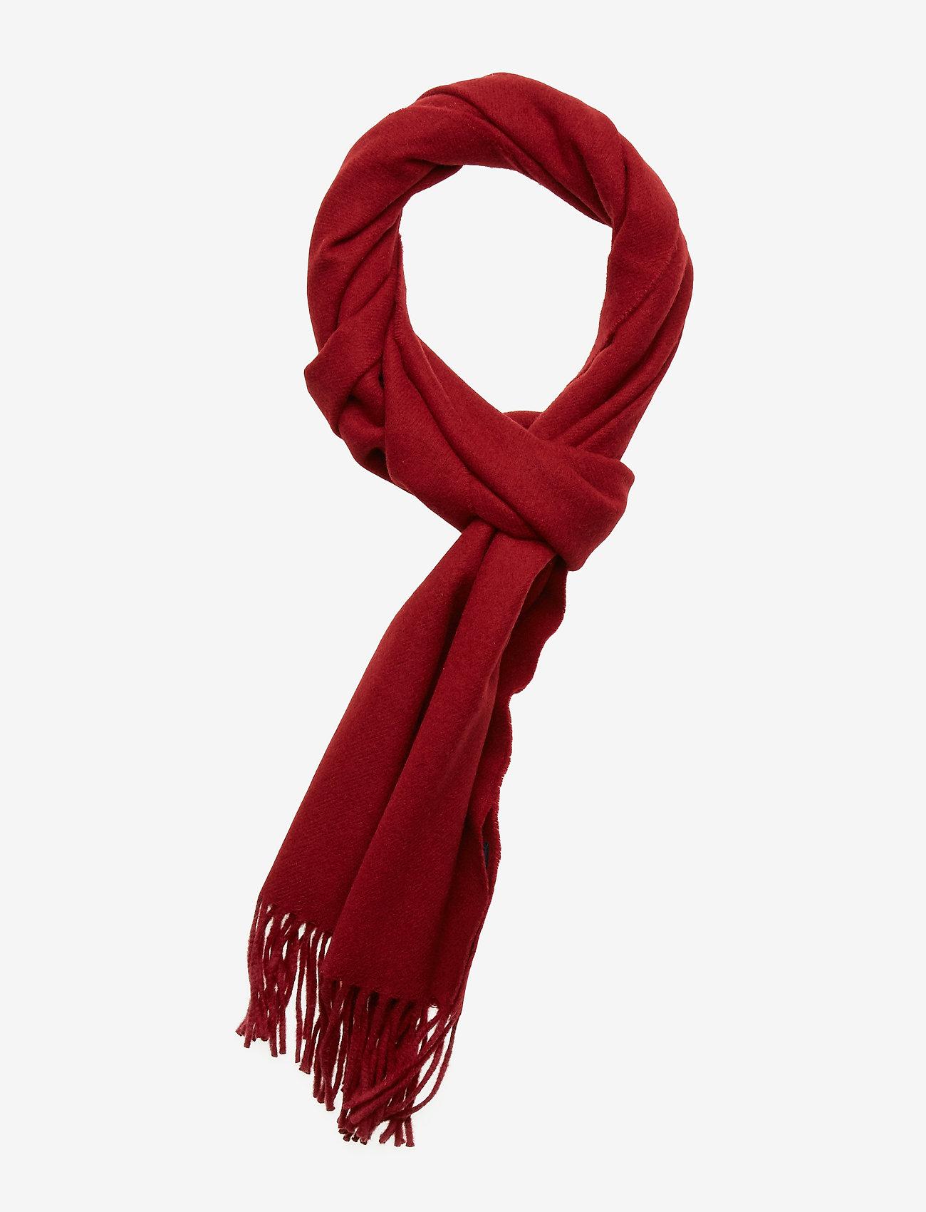 Gant - SOLID WOOL SCARF - huivit - mahogny red