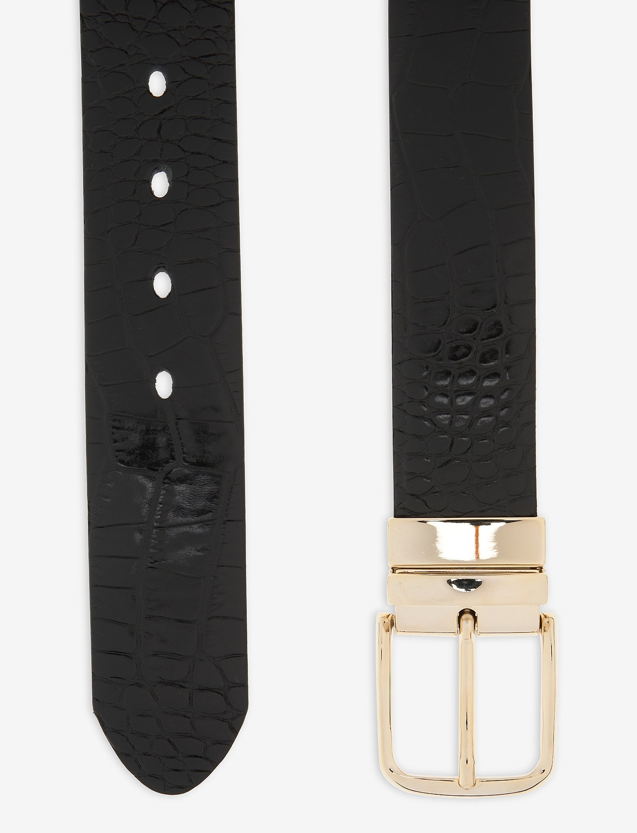 GANT - D1. CROCO REVERSIBLE BELT - belts - black - 1