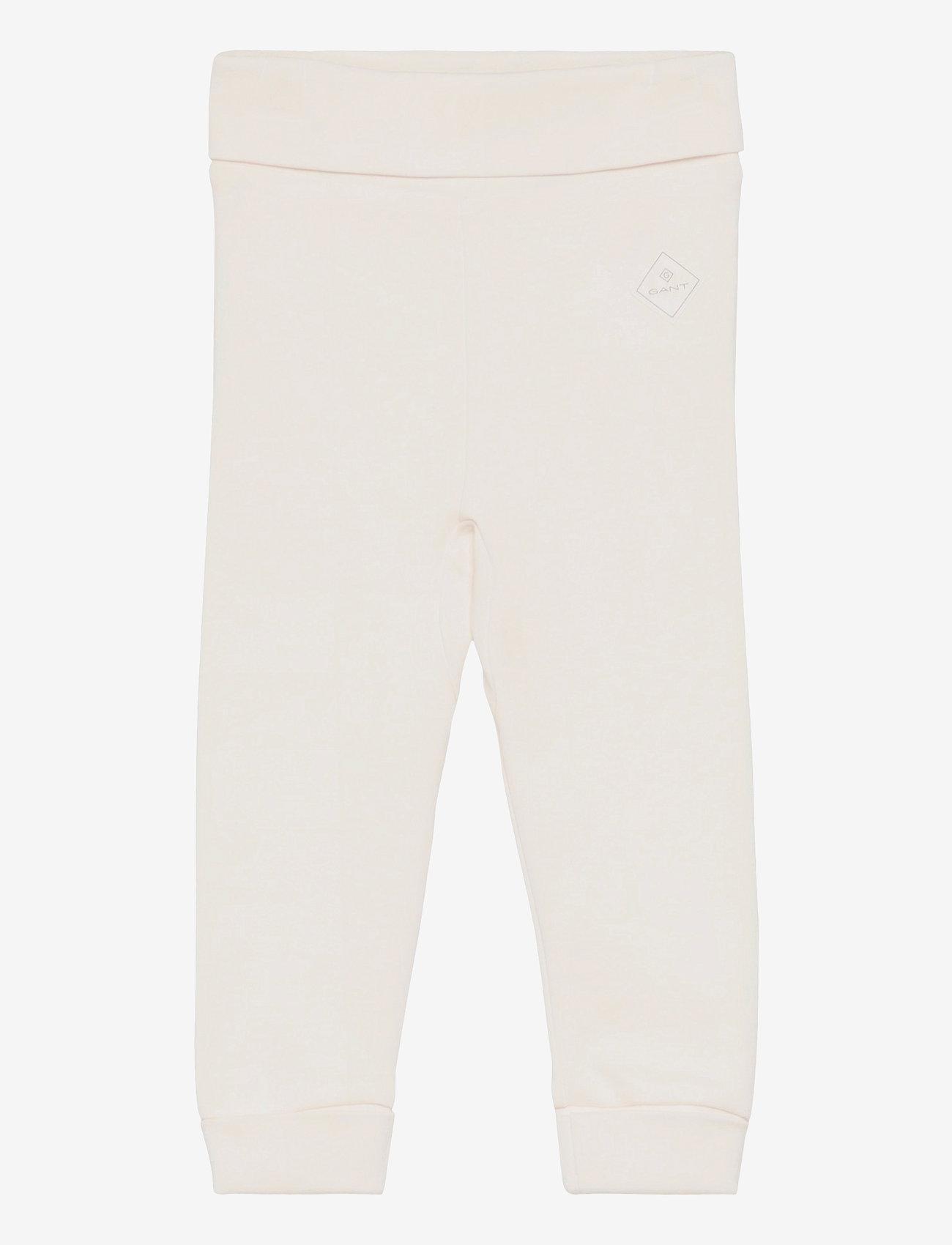 GANT - LOCK-UP ORGANIC COTTON PANTS - trousers - eggshell - 0