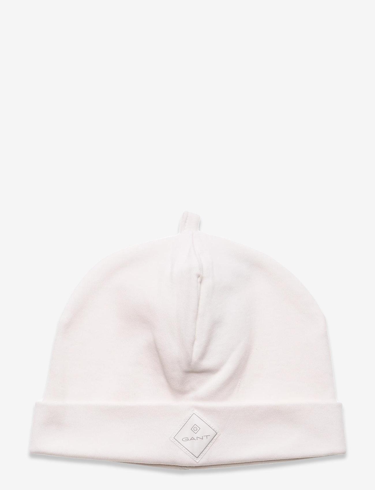 GANT - LOCK-UP ORGANIC COTTON BEANIE - hatte og handsker - eggshell - 0