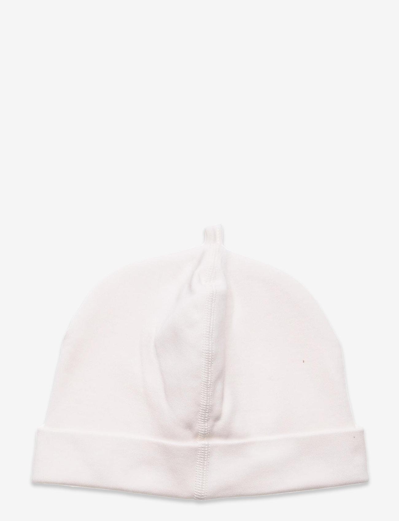 GANT - LOCK-UP ORGANIC COTTON BEANIE - hatte og handsker - eggshell - 1