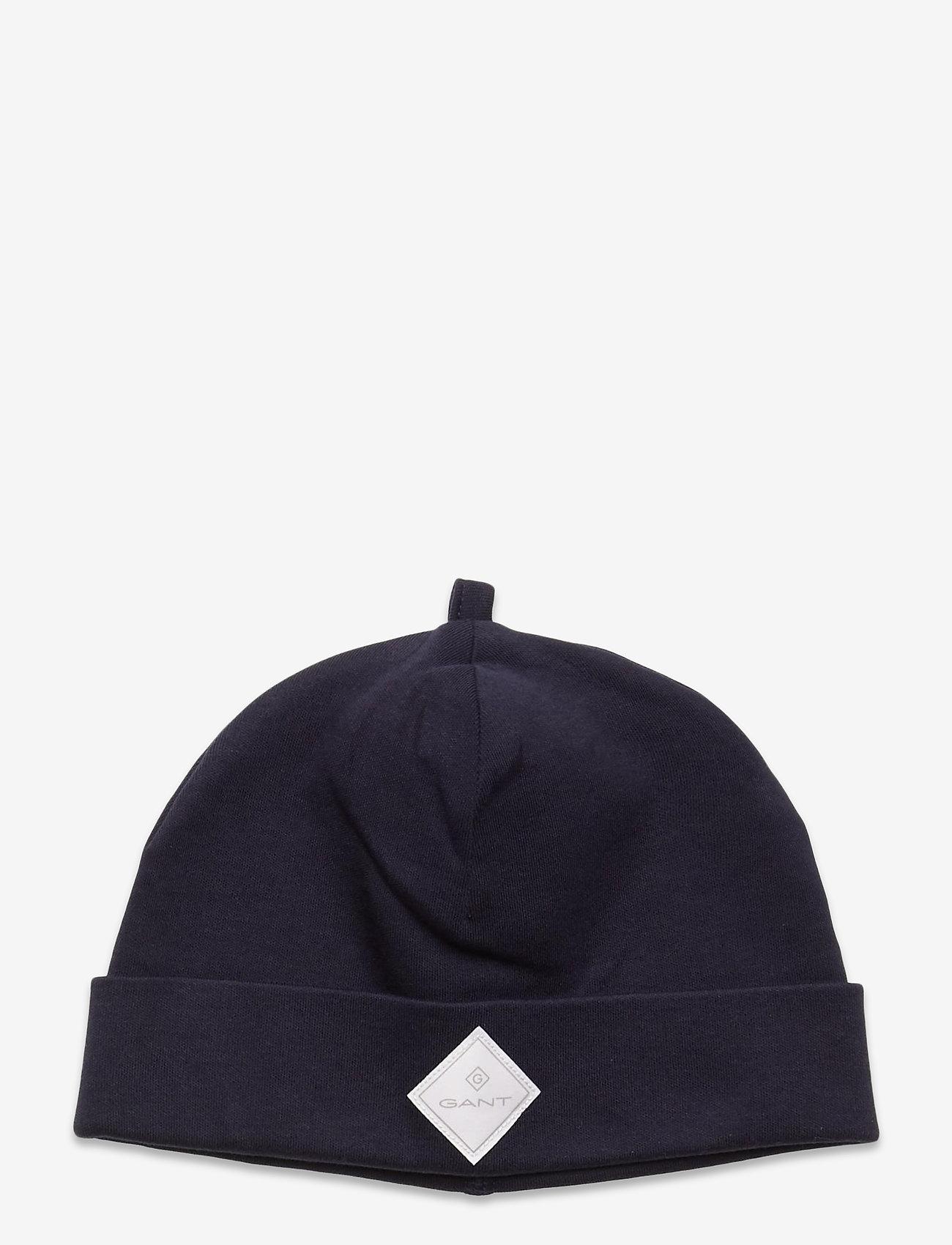 GANT - LOCK-UP ORGANIC COTTON BEANIE - hatte og handsker - evening blue - 0