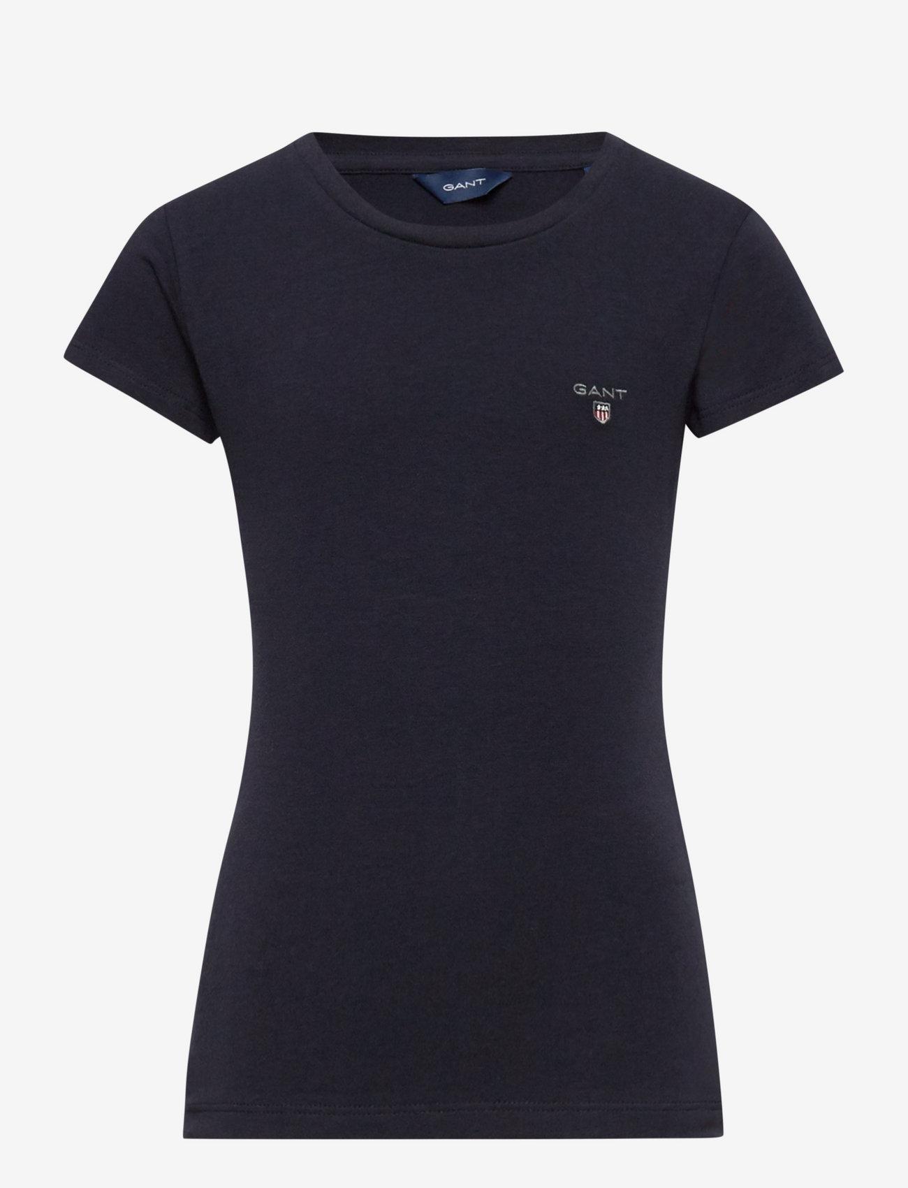 GANT - FITTED ORIGINAL SS T-SHIRT - short-sleeved - evening blue - 0