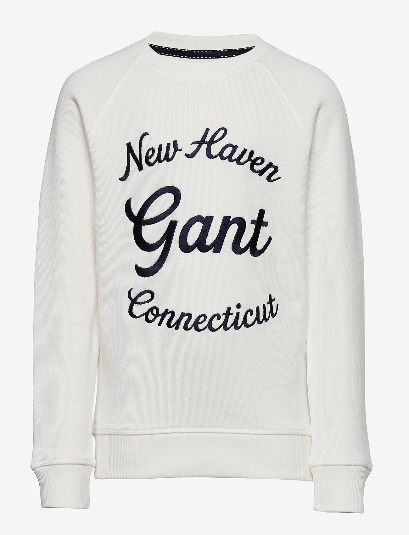 GANT - D1. GANT SCRIPT C-NECK SWEAT - sweatshirts - eggshell - 0