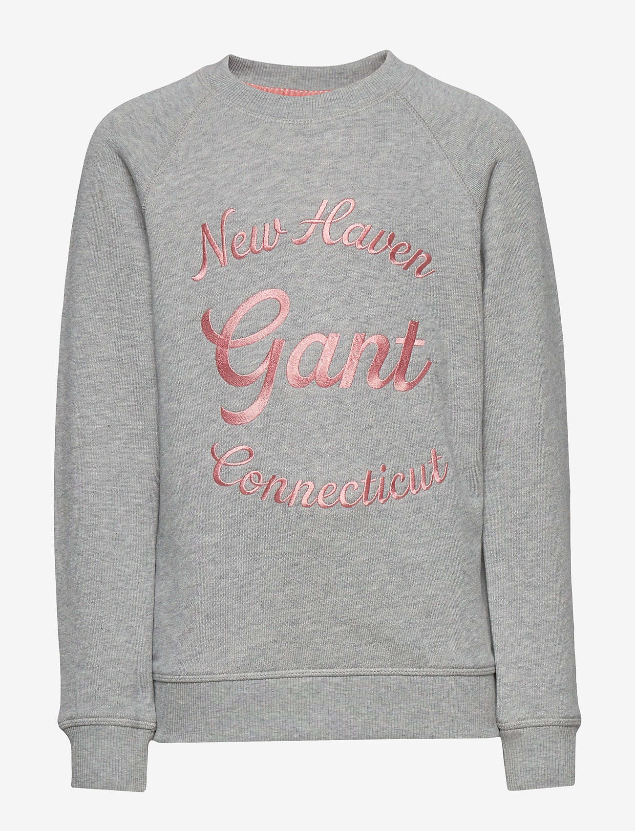 GANT - D1. GANT SCRIPT C-NECK SWEAT - sweatshirts - light grey melange - 0