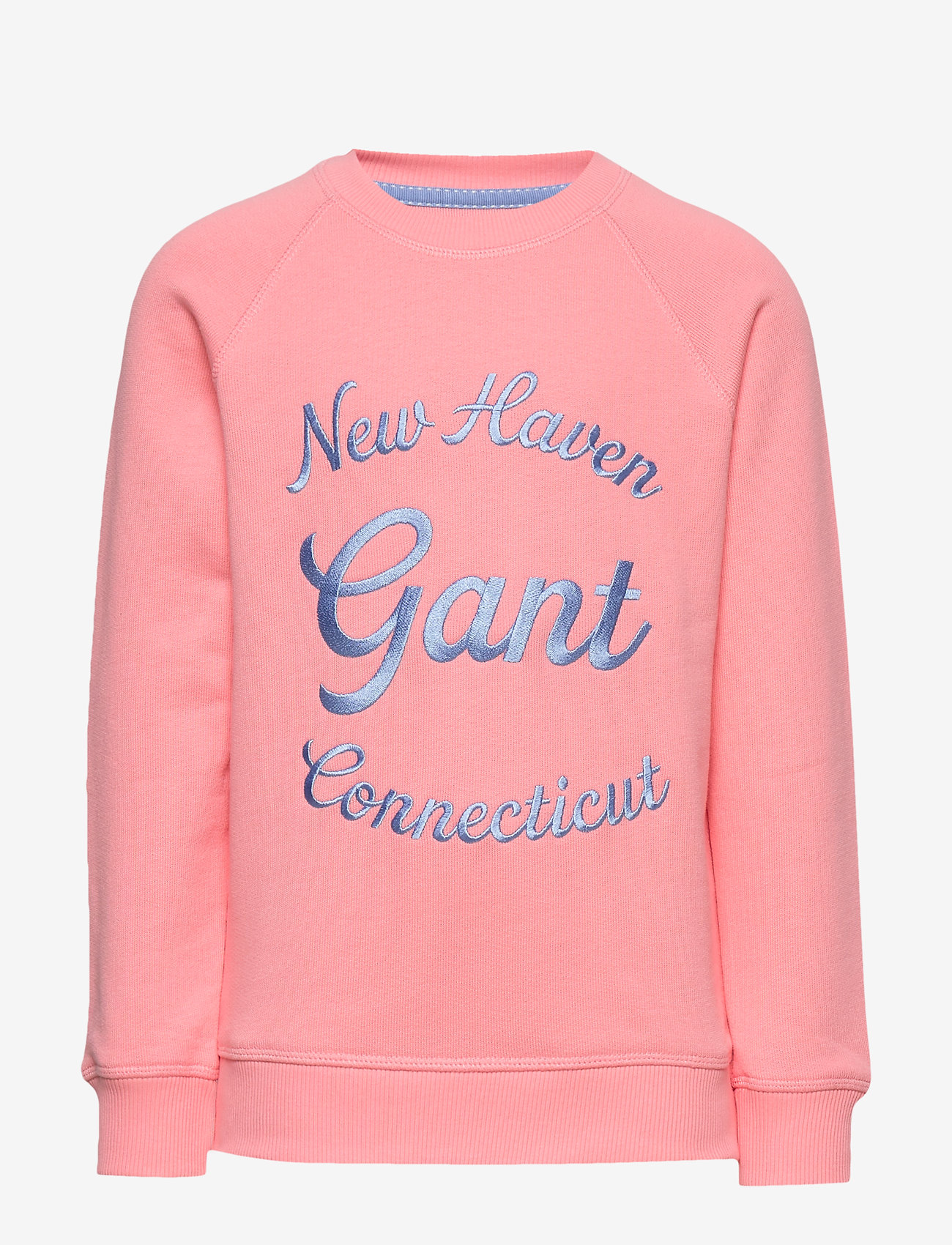 GANT - D1. GANT SCRIPT C-NECK SWEAT - sweatshirts - strawberry pink - 0