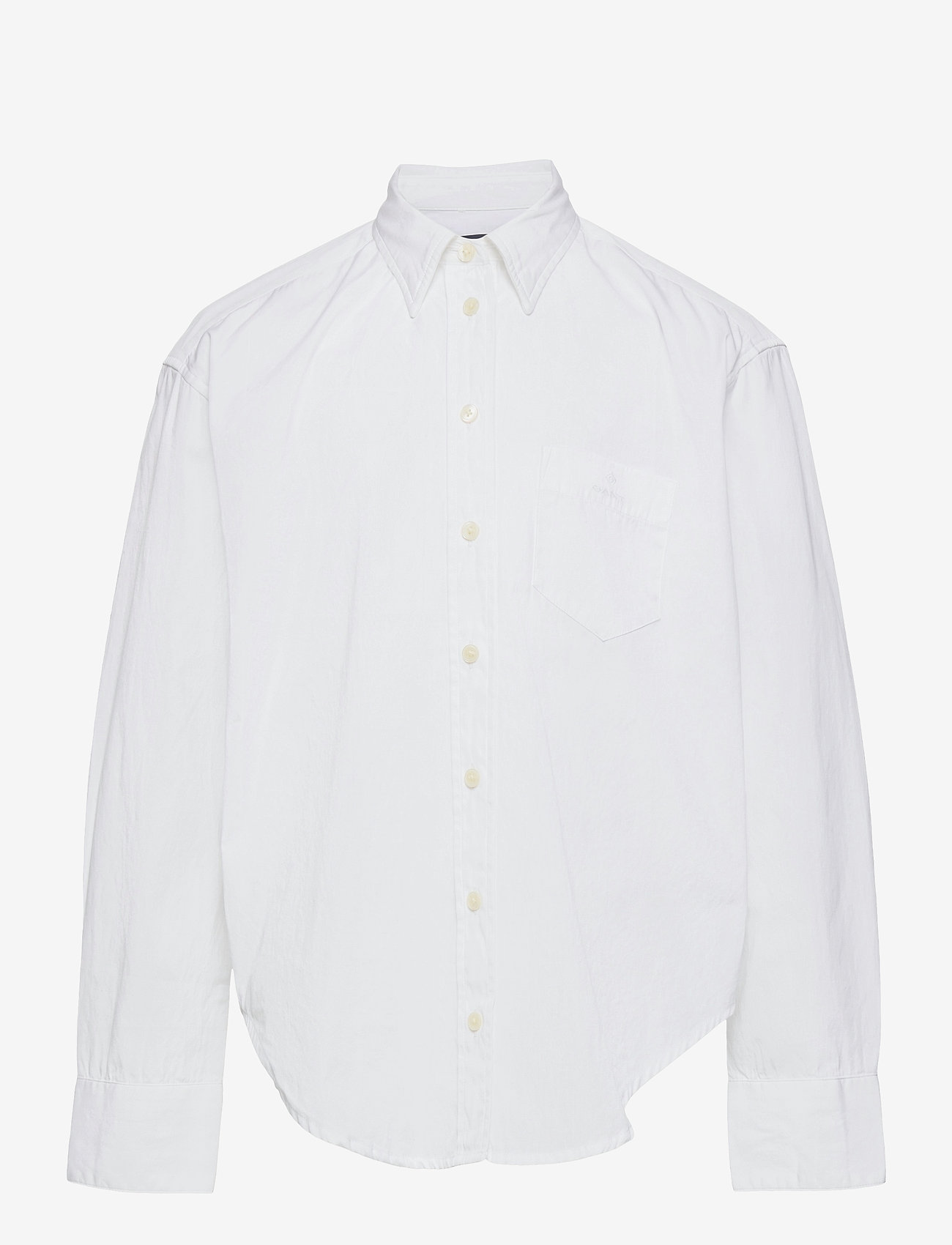 GANT - D1. OVERSIZED POPLIN SHIRT - shirts - white - 0