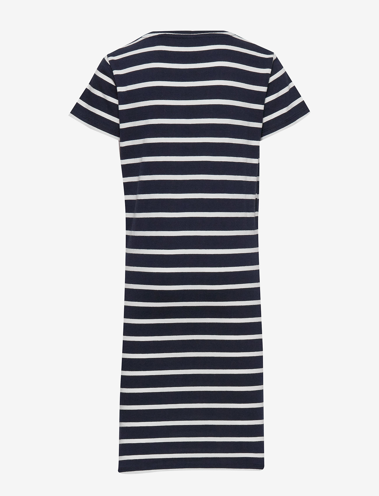 GANT - D1. TG BRETON STRIPED JERSEY DRESS - robes - evening blue - 1