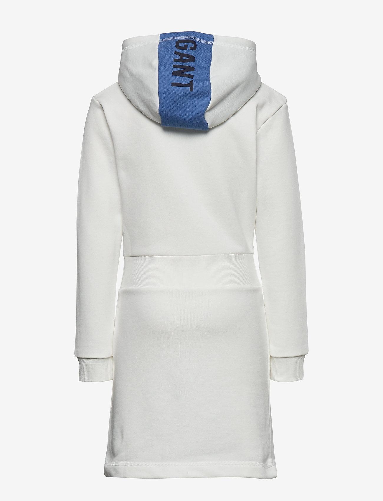 GANT - D1. GANT COLOR HOODIE DRESS - dresses - eggshell - 1