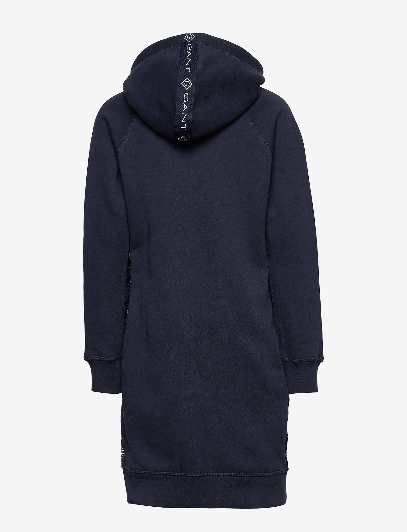 GANT - D1. LOCK UP STRIPE HOODIE DRESS - kleider - evening blue - 1