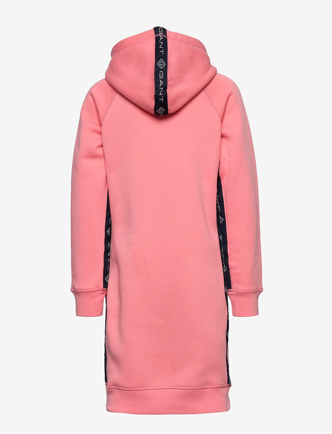GANT - D1. LOCK UP STRIPE HOODIE DRESS - kjoler - strawberry pink - 1