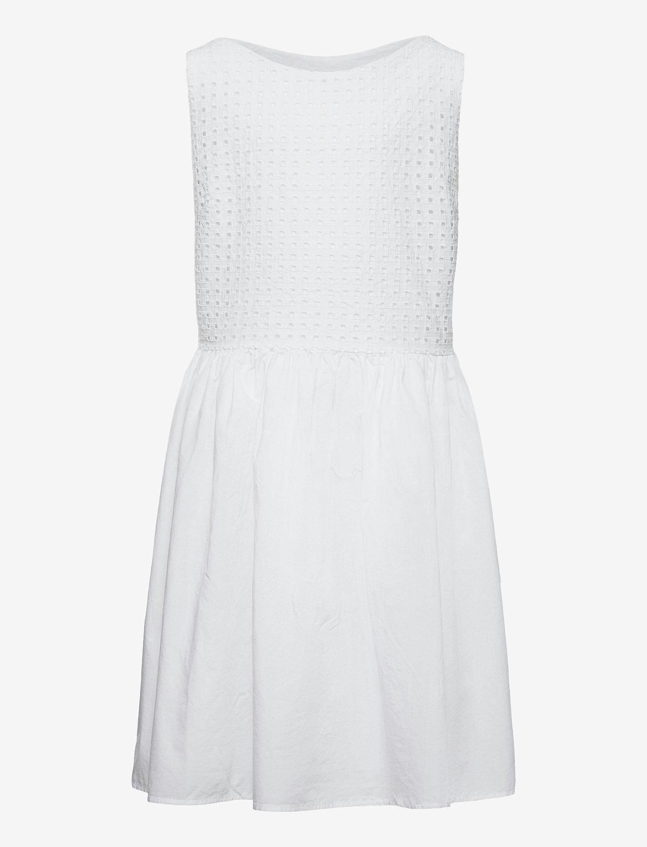 GANT - TG. BROIDERIE ANGLAISE DRESS - robes - white - 0