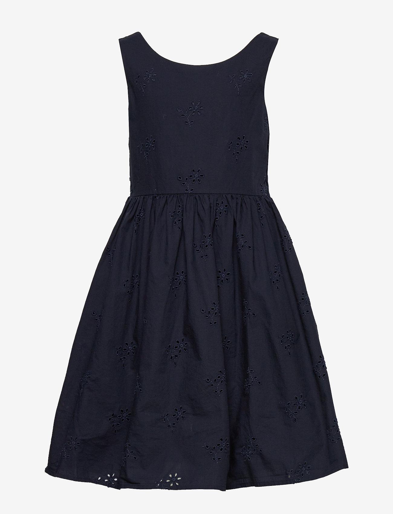 Gant - D2. BRODERIE ANGLAISE DRESS - dresses - evening blue