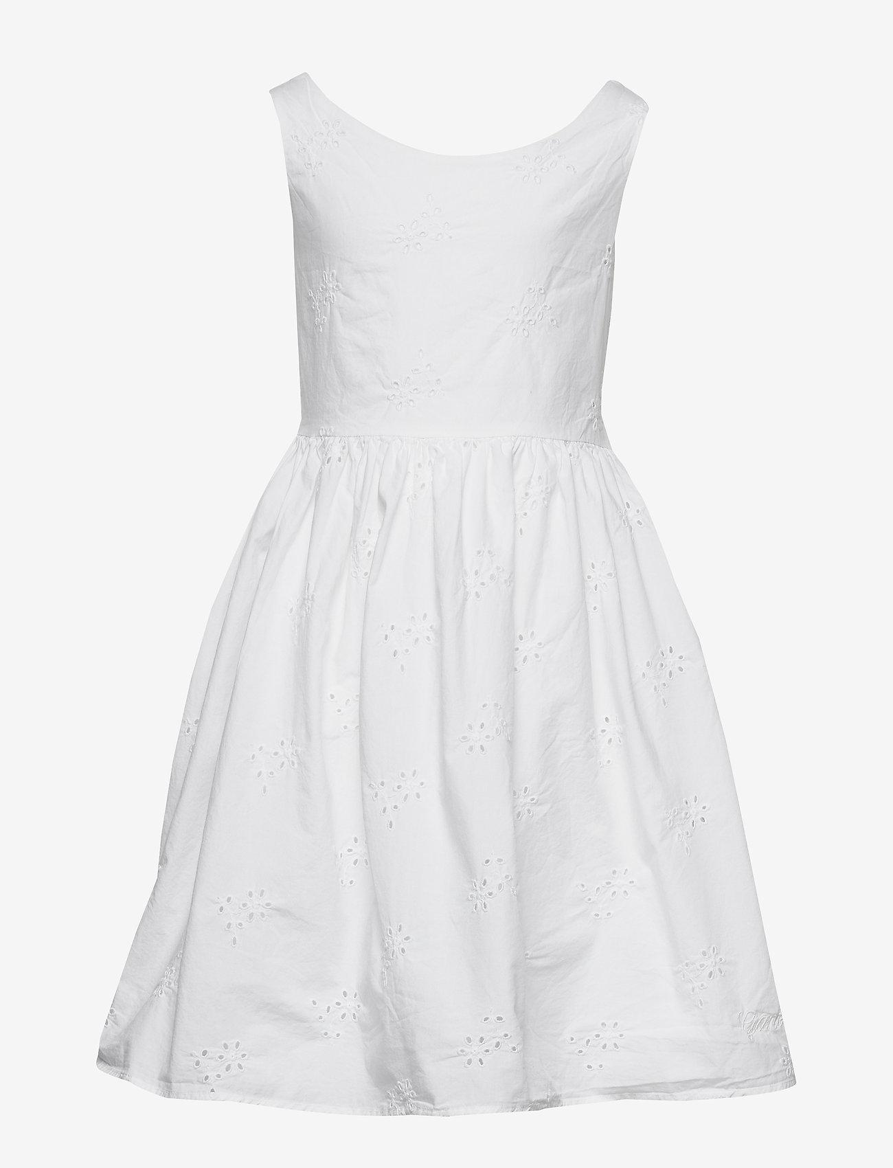 Gant - D2. BRODERIE ANGLAISE DRESS - dresses - white