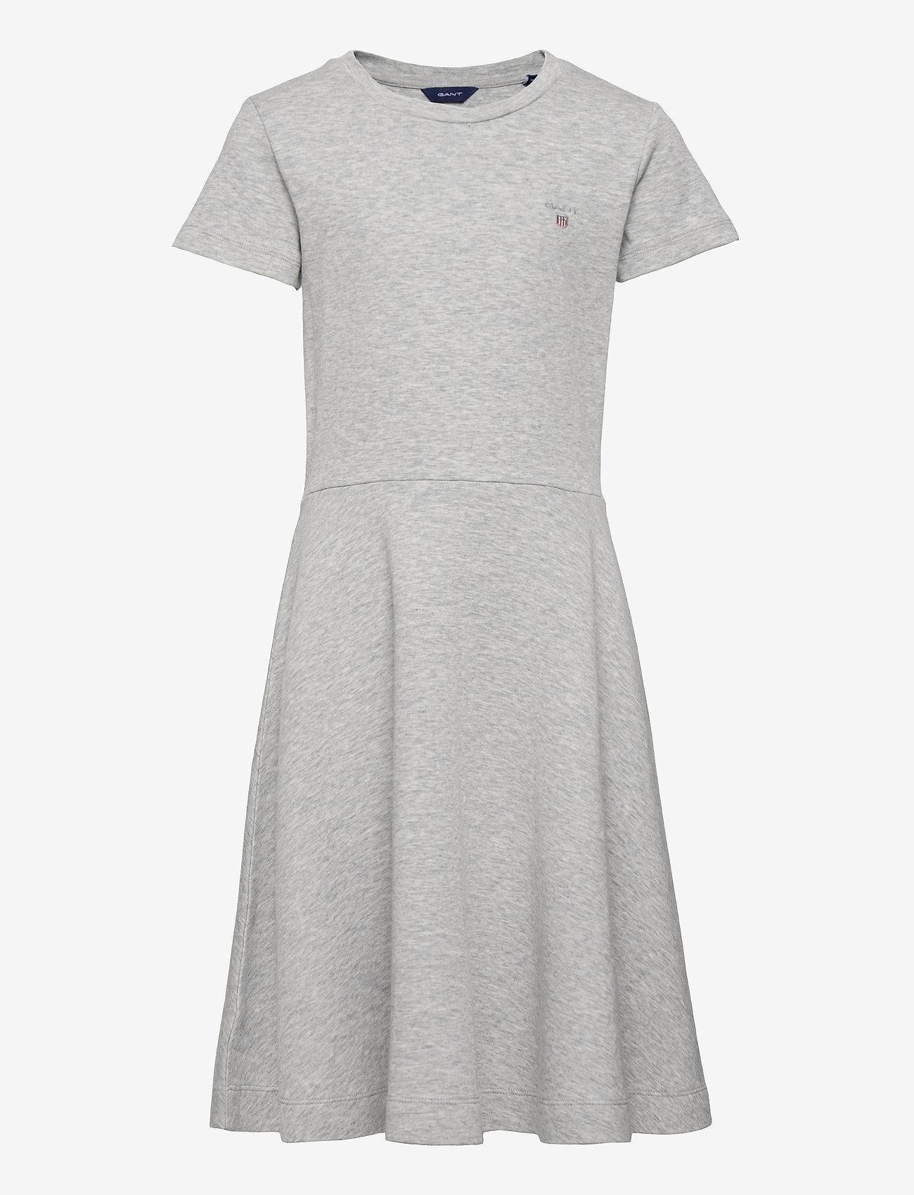 GANT - D1. ORIGINAL JERSEY DRESS - jurken - light grey melange - 0