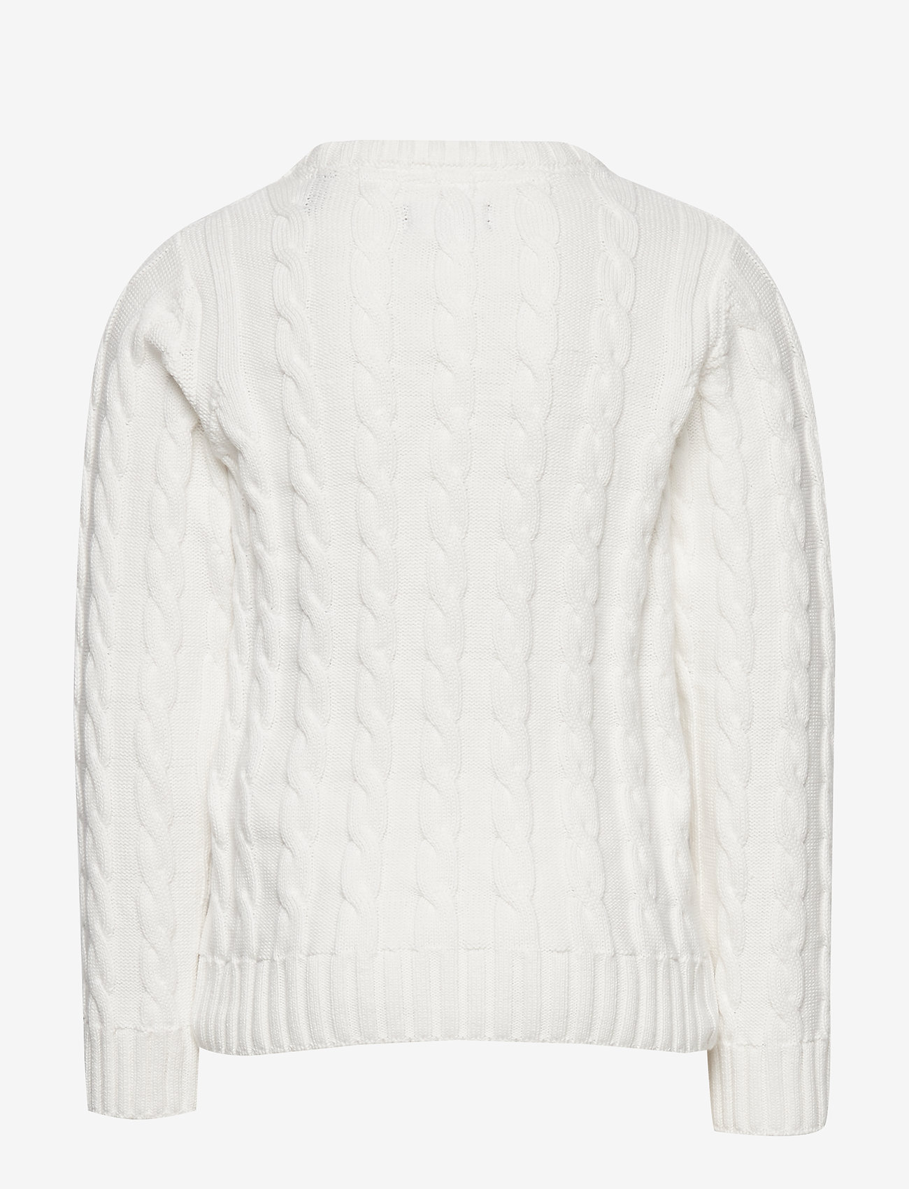 GANT - COTTON CABLE CREW - knitwear - eggshell - 1