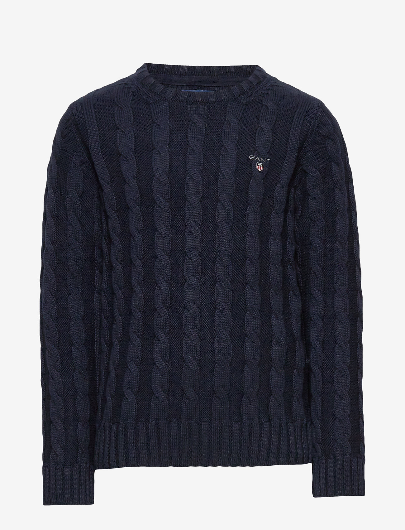 GANT - COTTON CABLE CREW - strickmode - evening blue - 0