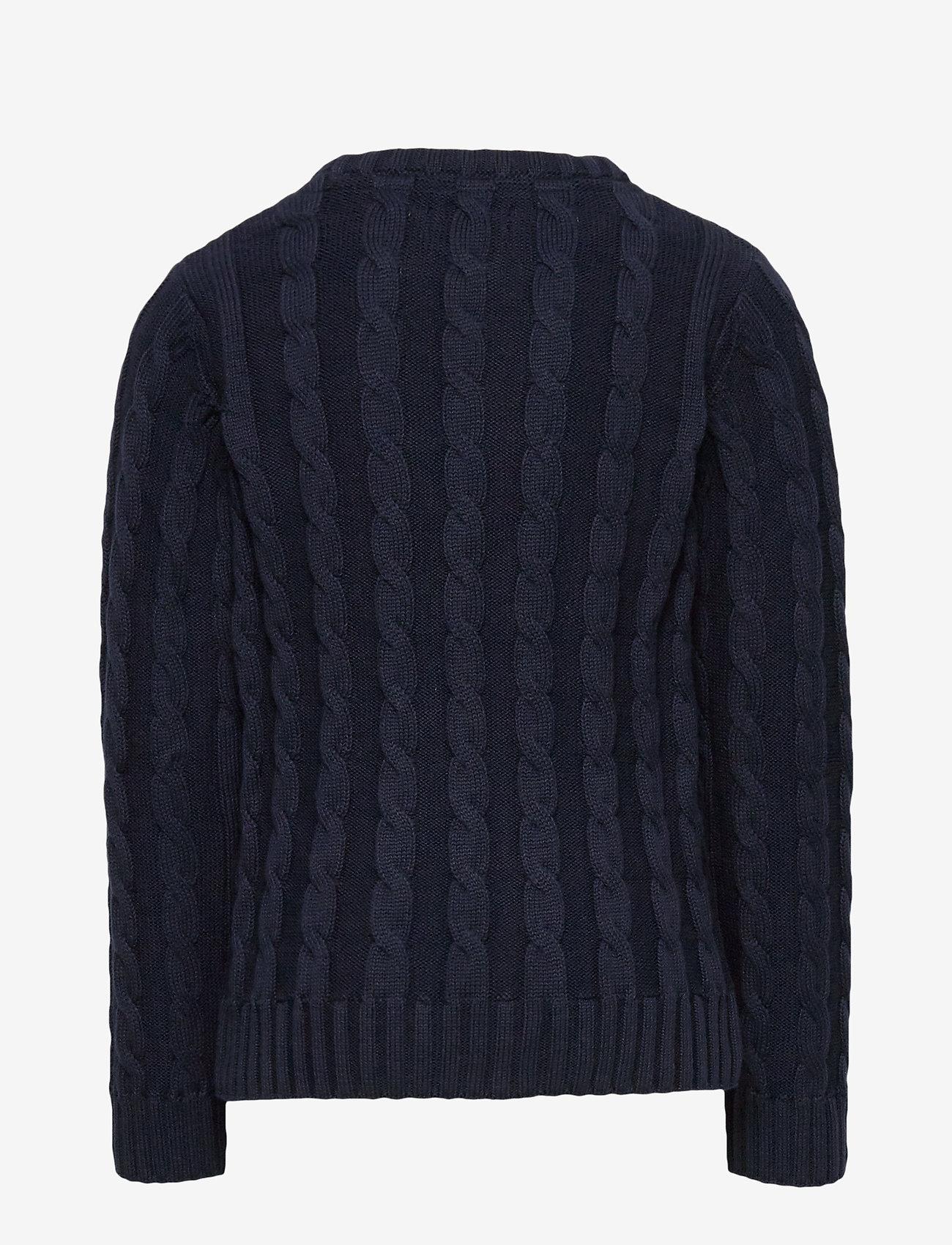 GANT - COTTON CABLE CREW - knitwear - evening blue - 1