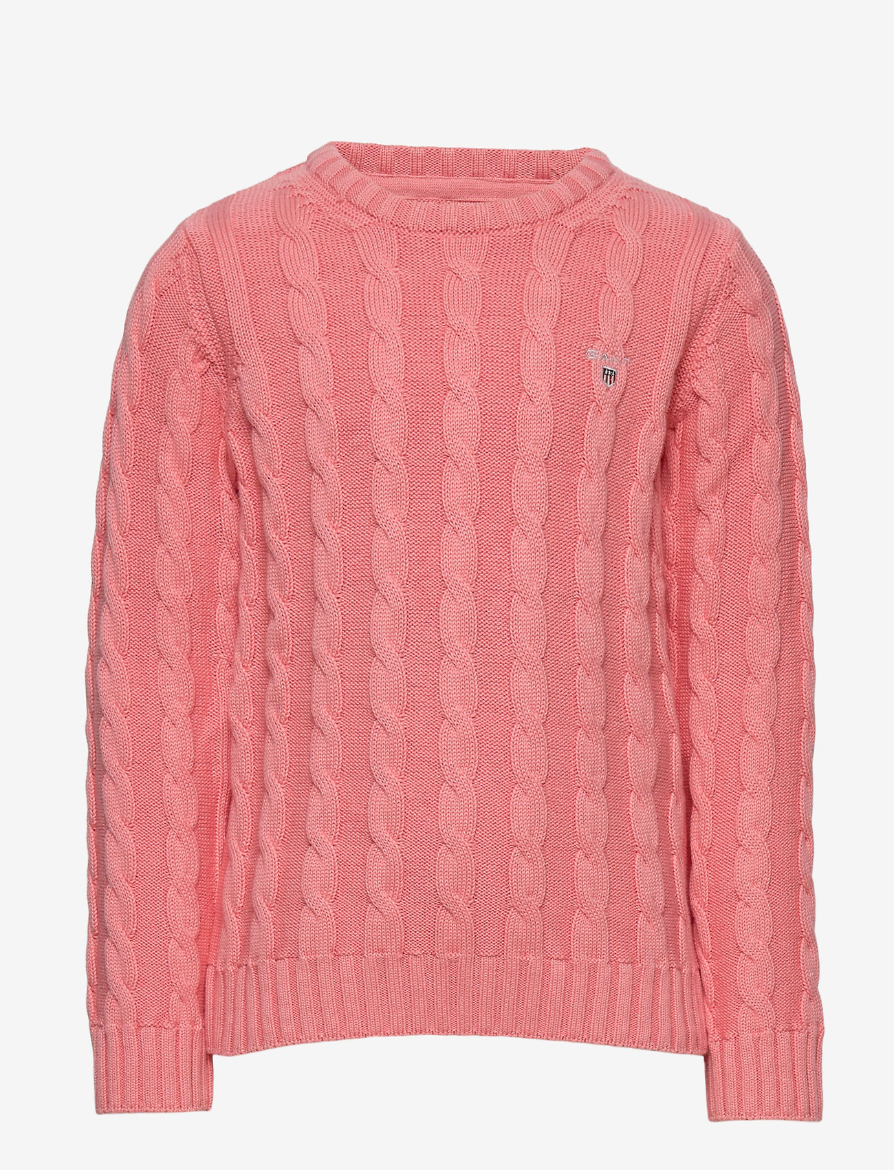 GANT - COTTON CABLE CREW - strickmode - strawberry pink - 0