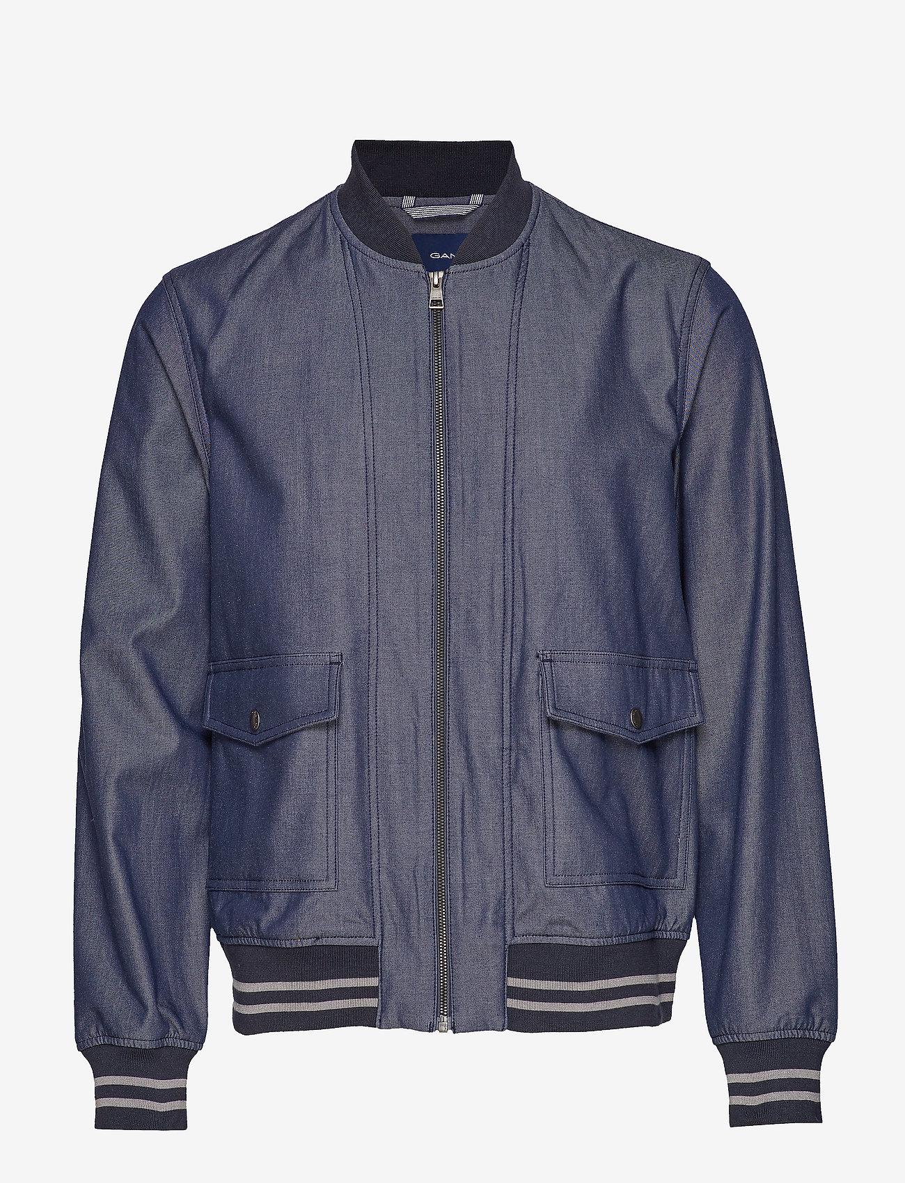 Gant - D1. THE CHAMBRAY JACKET - bomber-takit - persian blue