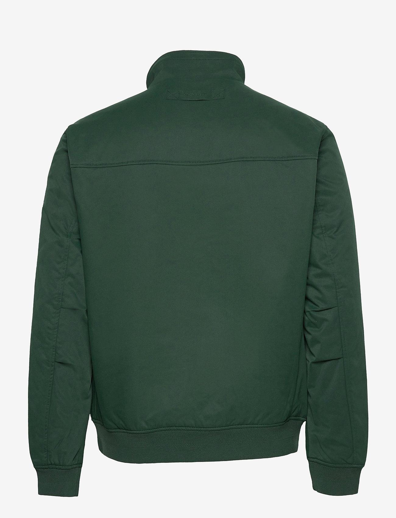 GANT - D1. HAMPSHIRE JACKET - bomber jackets - tartan green - 1