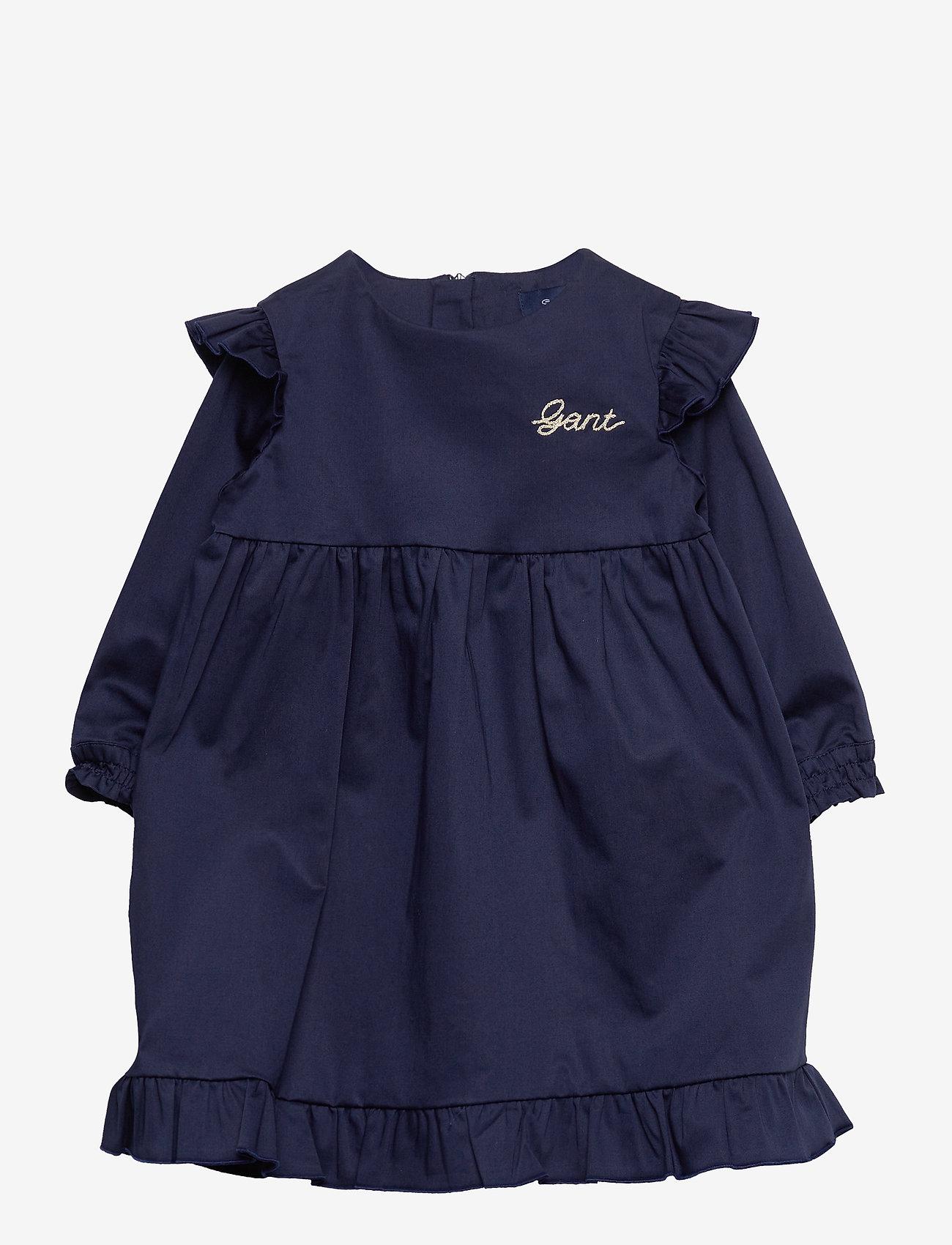 GANT - D2. SCRIPT HOLIDAY DRESS - robes - evening blue - 0
