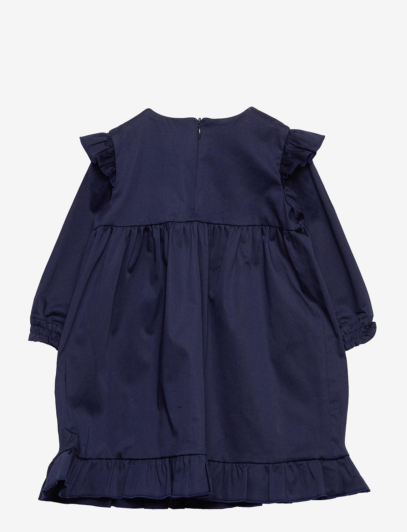 GANT - D2. SCRIPT HOLIDAY DRESS - robes - evening blue - 1