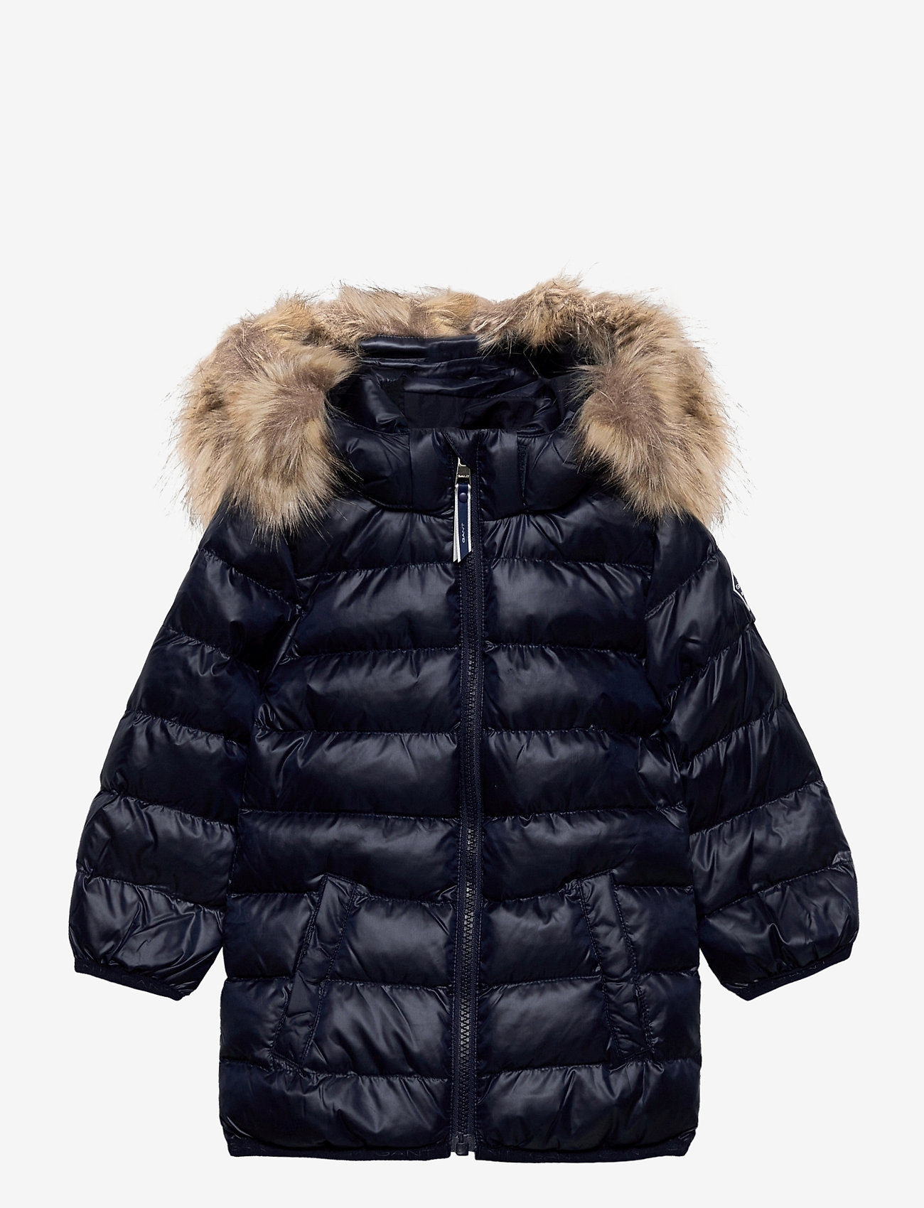 GANT - D1. GANT FAUX FUR PUFFER JACKET - puffer & padded - evening blue - 0