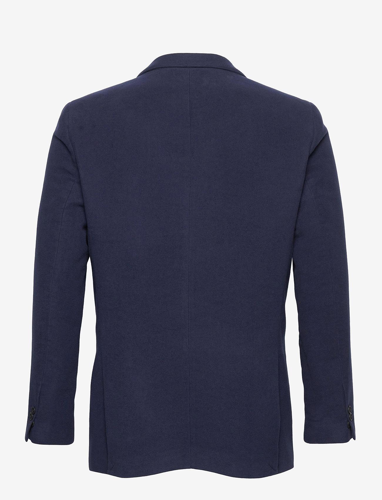 GANT - D2. SLIM MOLESKIN BLAZER - single breasted blazers - evening blue - 1